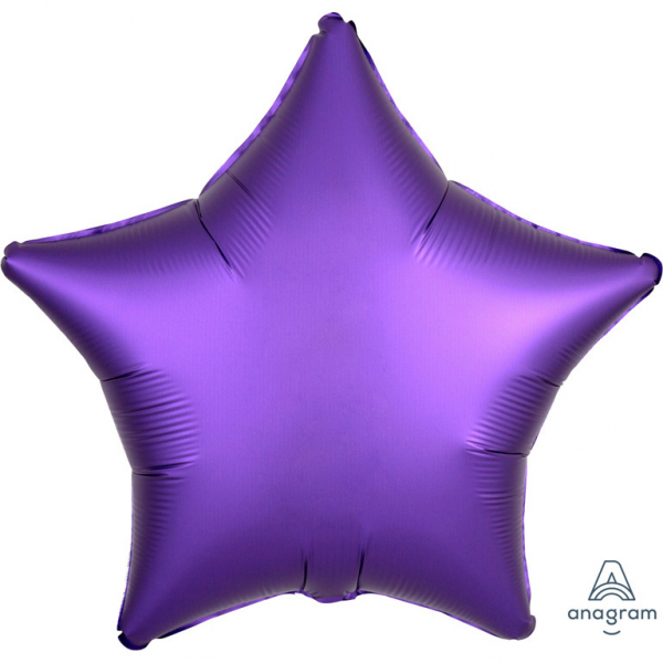 Foli ster ballon  donker paars 43 cm
