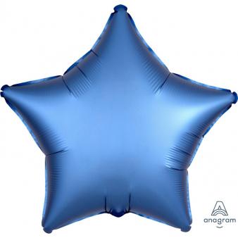 Foli ster ballon blauw 43 cm
