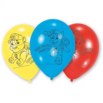 Ballonnen Paw Patrol per 6 verpakt