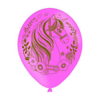 Latexballonnen Eenhoorn per 6 verpakt