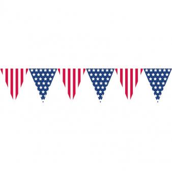 Vlaggenlijn Amerika USA 3 halve meter
