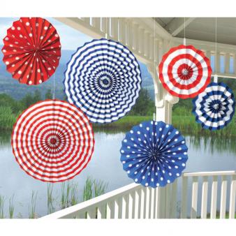 Hang decoratie papier Amerika USA per 6 verpakt