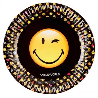 Bord Smiley 23cm per 8 verpakt
