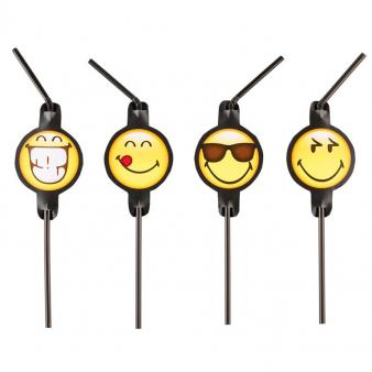 Drinkrietjes Smiley per 8 verpakt