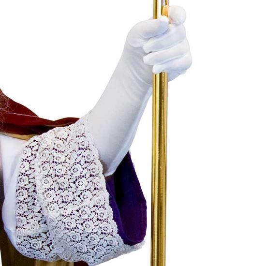 witte handschoenen 40 cm