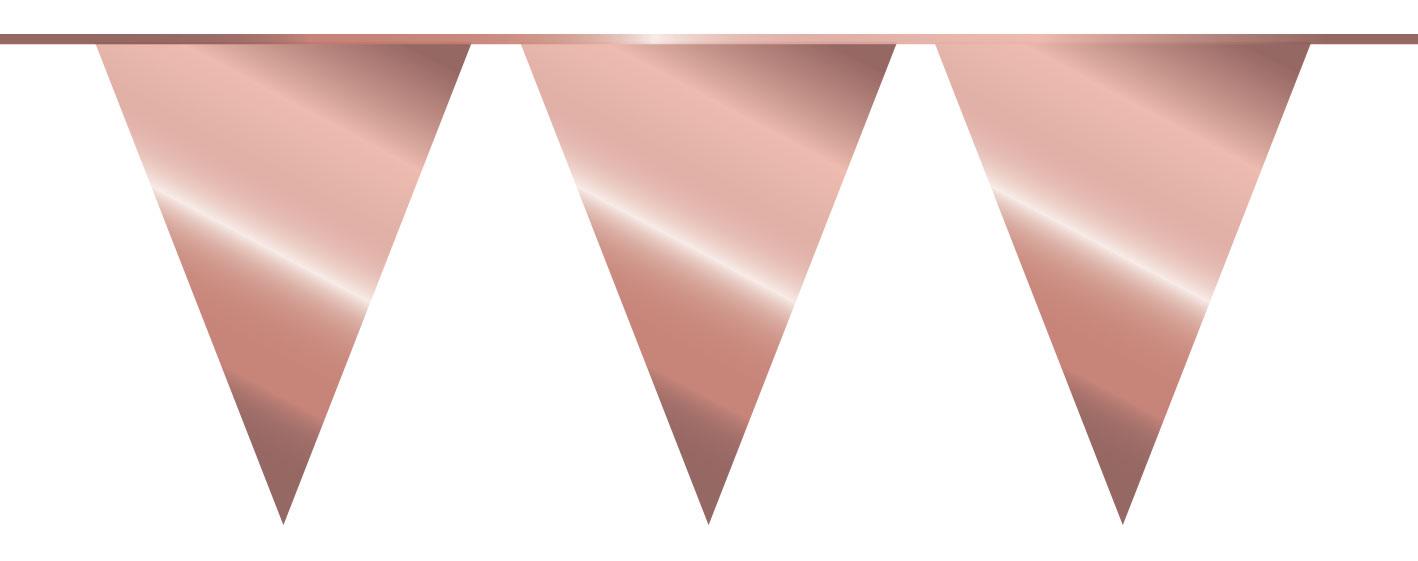 vlaggenlijn rose goud