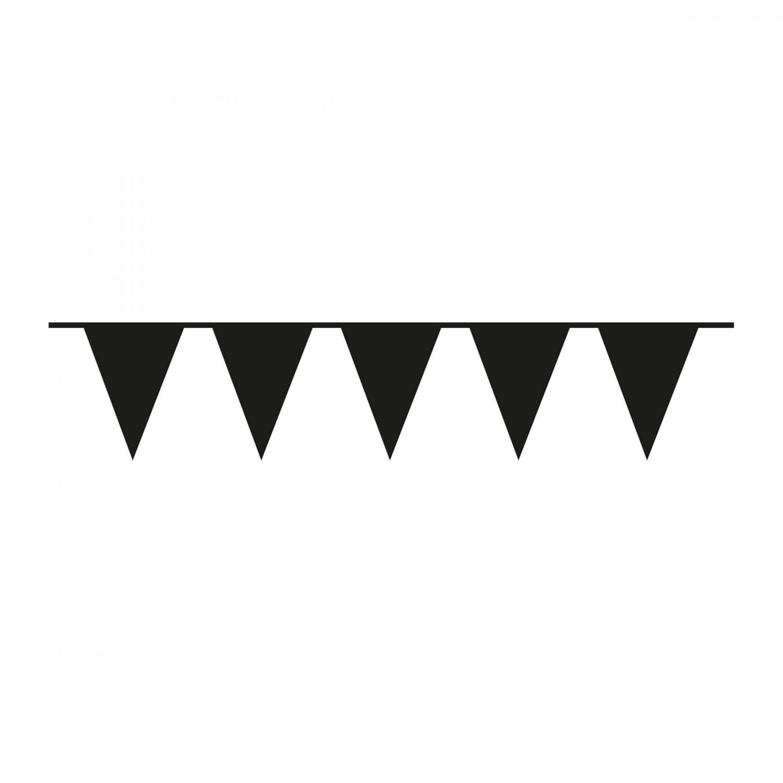 vlaggenlijn zwart 10m