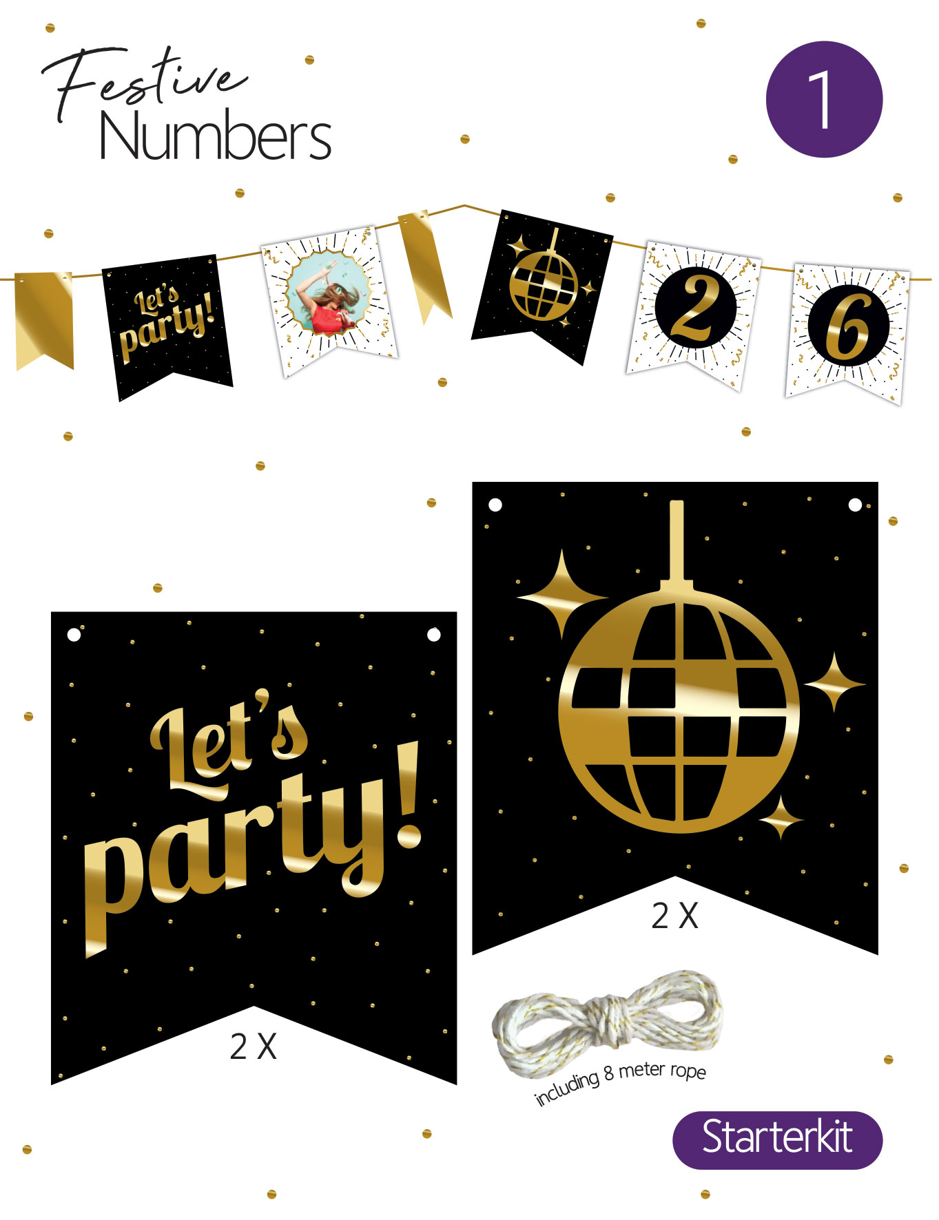 festive numbers kit let's party