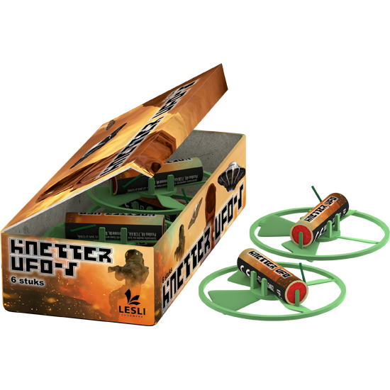Knetter UFO's (6 stuks per doosje)