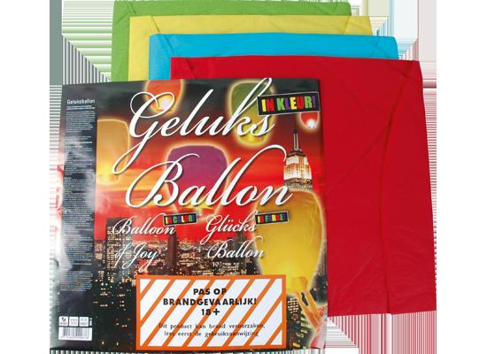 Geluksballon assorti kleuren