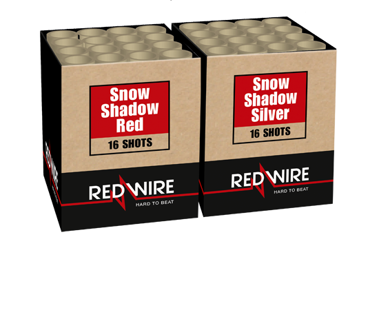 Snow shadow - red & silver