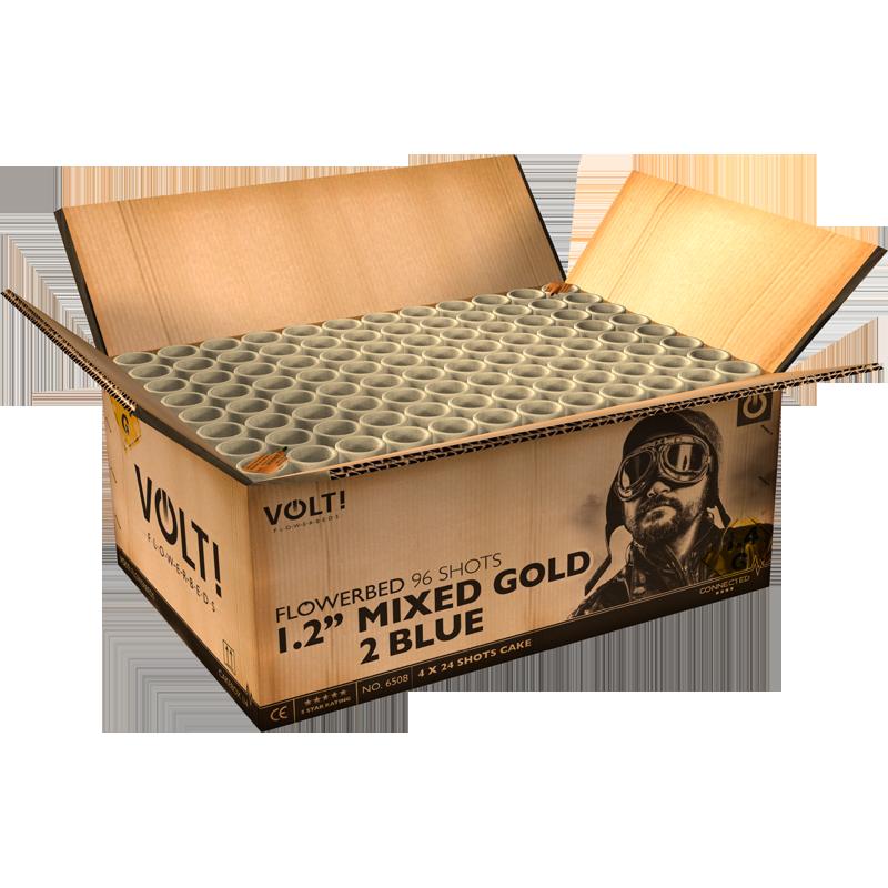 "1.2"" MIXED GOLD 2 BLUE"