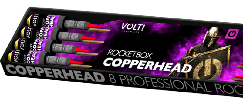 VOLT COPPERHEAD ROCKETS  ( KARTON )