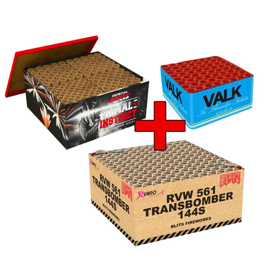 COMBI DEAL 2 : TRANSBOMBER + PRIMAL INSTINCT + VALK TI THUNDER