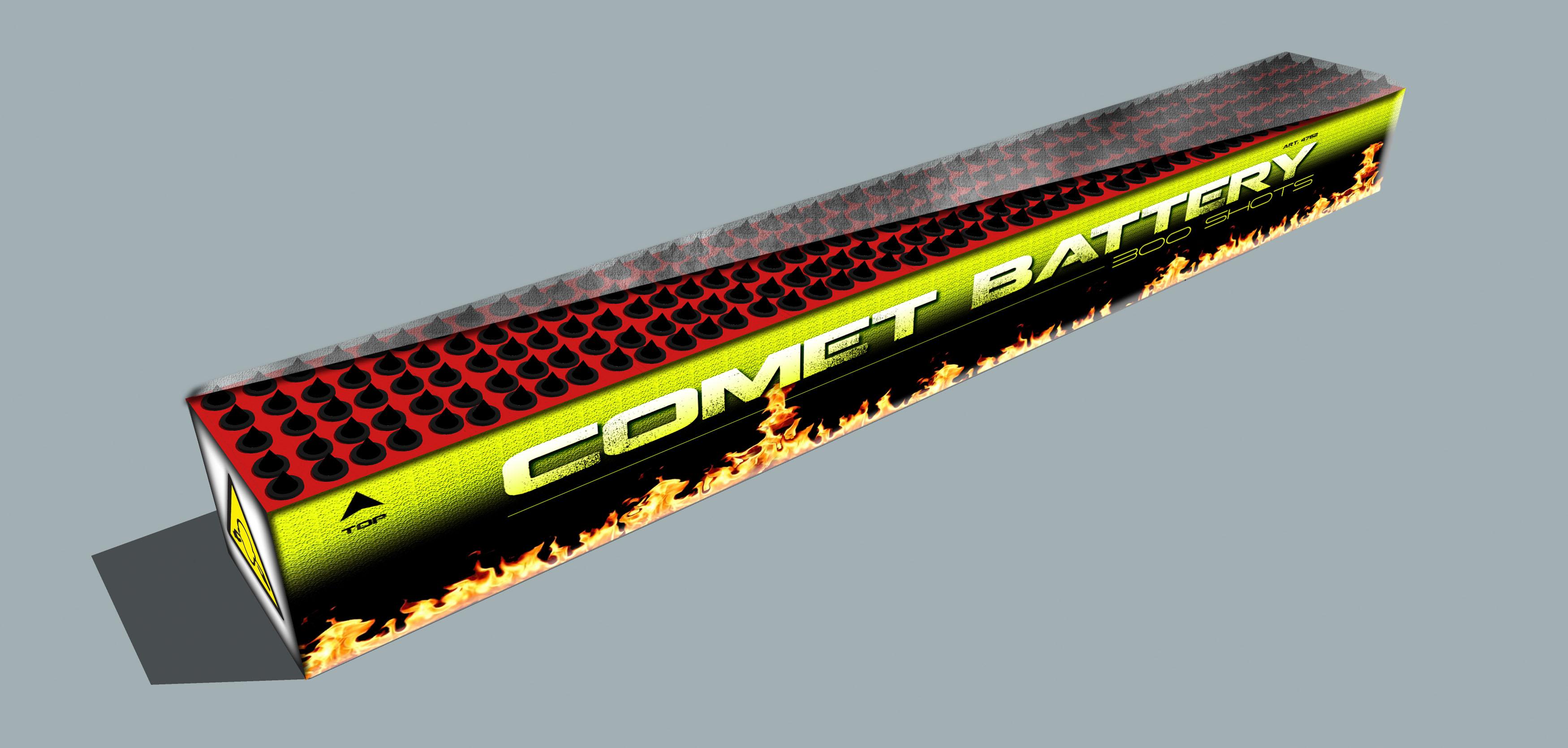 300 shots Comet Battery