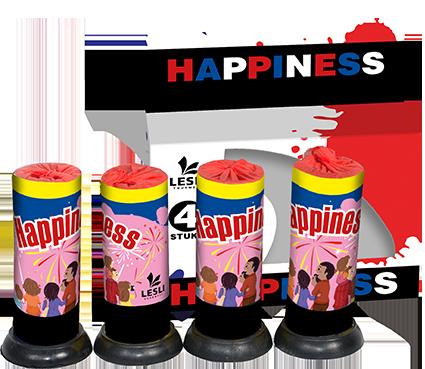 Happiness (4 stuks)