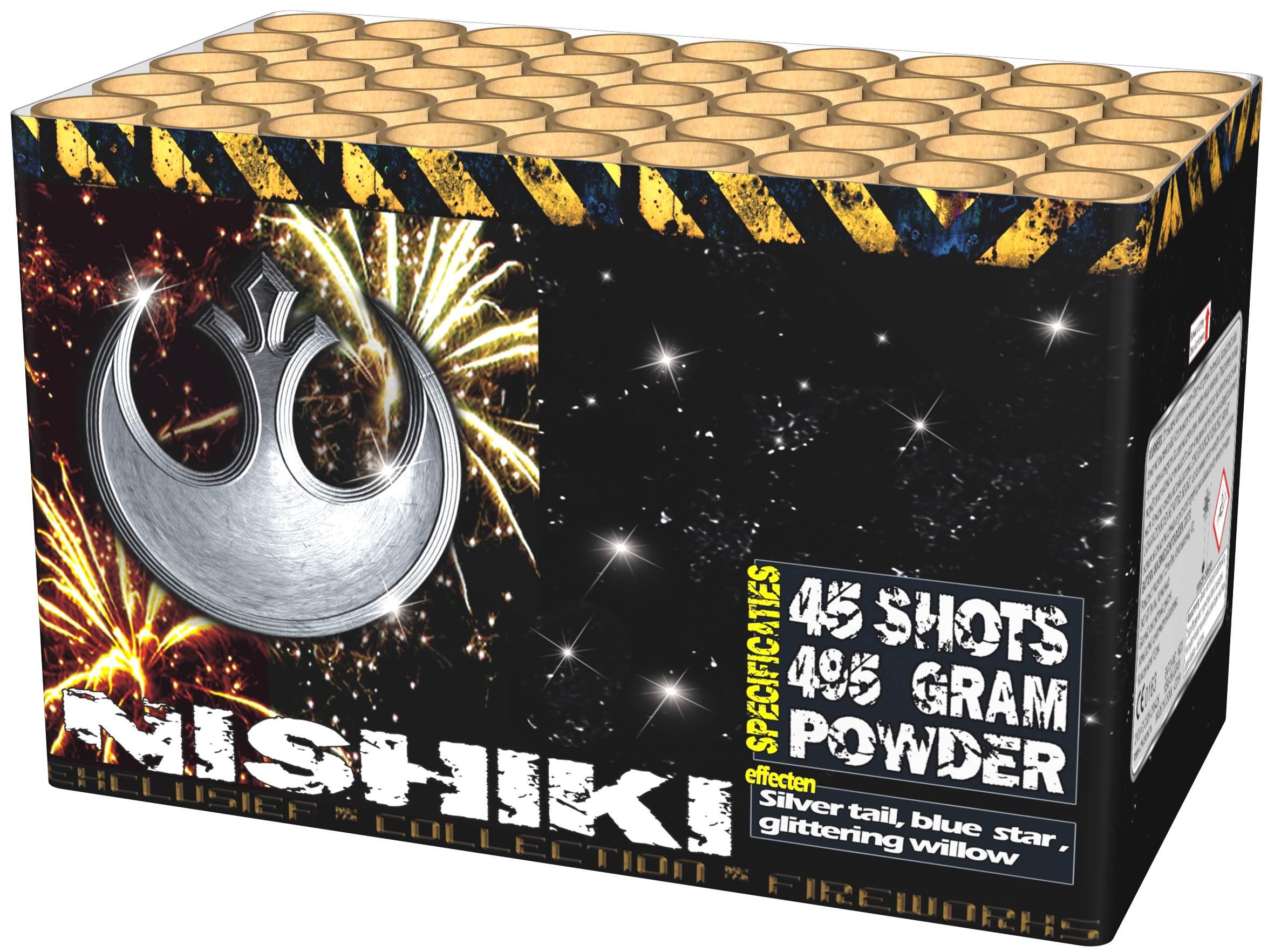 Nishiki powercake 45 shots 500 gram ky3725 china red for Intratuin lochem