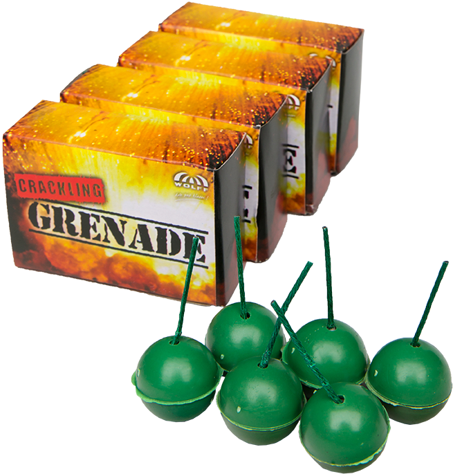 Crackling Grenade (4x6stuks) CAT1