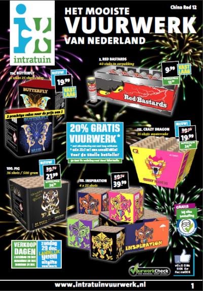 Vuurwerk Intratuin Folder  2019