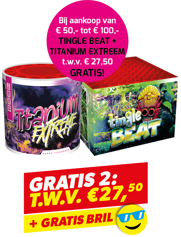 TINGLE BEAT + TITANIUM + BRIL
