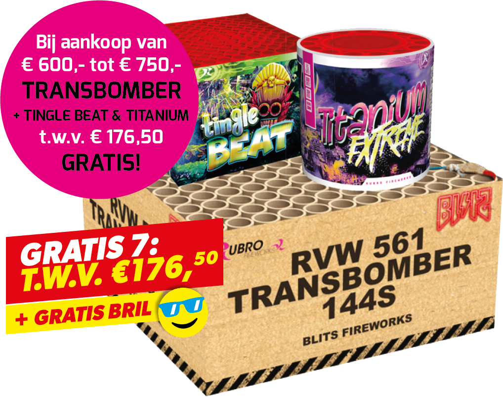 TRANSBOMBER +TINGLE BEAT + TITANIUM + BRIL