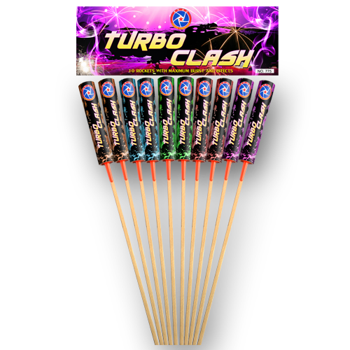 TURBO CLASS ROCKETS 10 STUKS