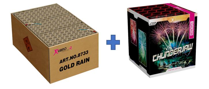 GOLD RAIN + THUNDERJAW GRATIS TUSSEN €401 - €500