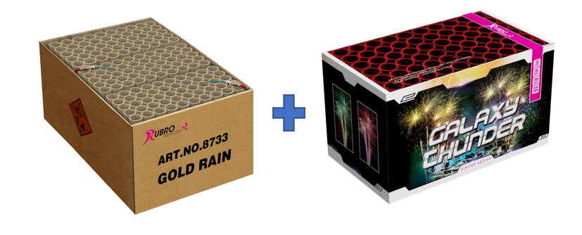 GOLD RAIN + GALAXY THUNDER GRATIS VANAF €501