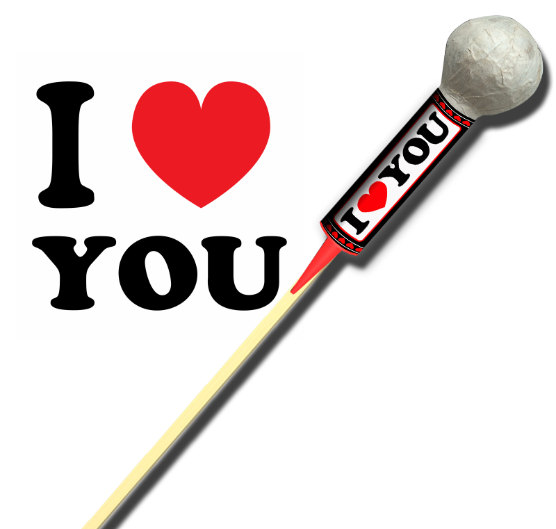 I Love You Pijl Verbakel Vuurwerk Pijnacker