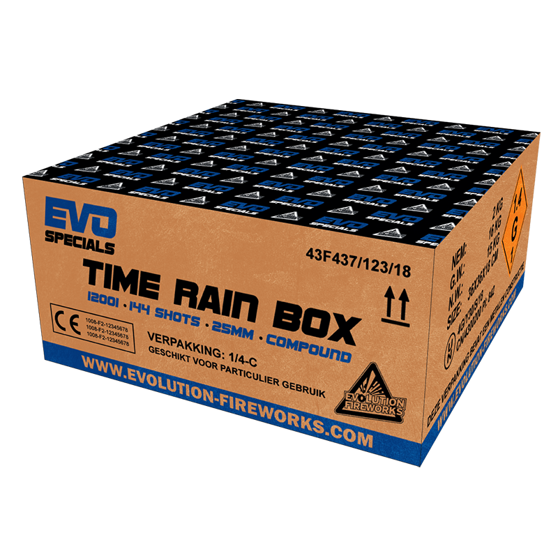 Evo Specials Time Rain 108 shots 25mm compound