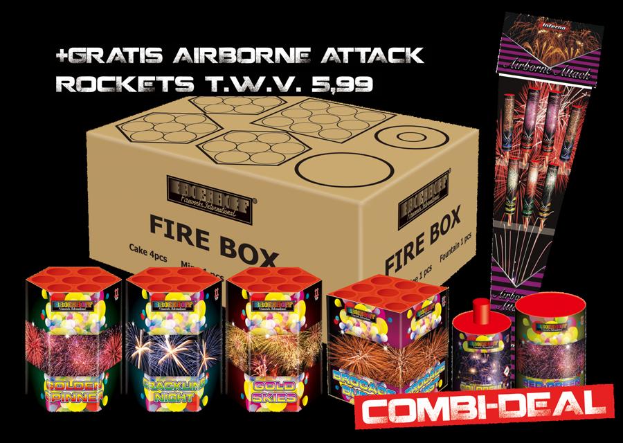 Fire Box Pakket + Airborne Attack gratis