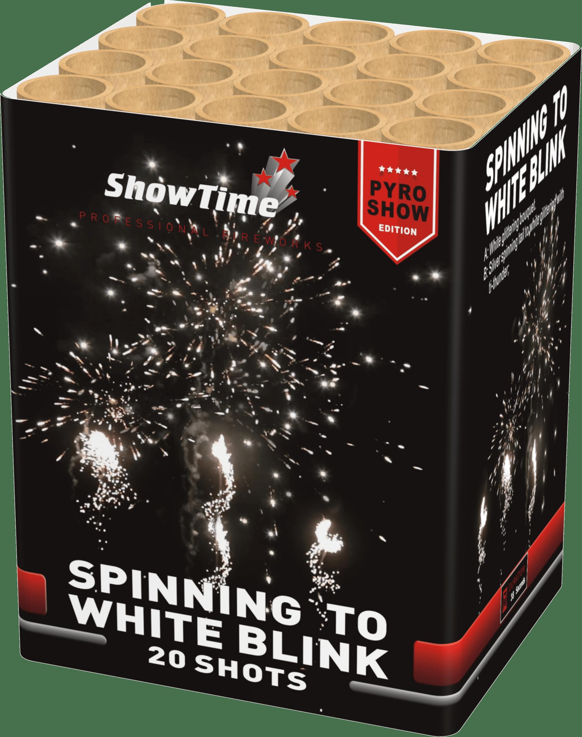 Spinning to white blink