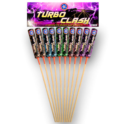 Turbo Clash Rockets 10x40gr.
