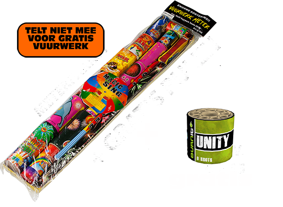 Meterpakket + GRATIS Unity Cake t.w.v. € 9,95