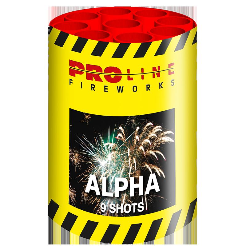 Alpha - 9 shots cake