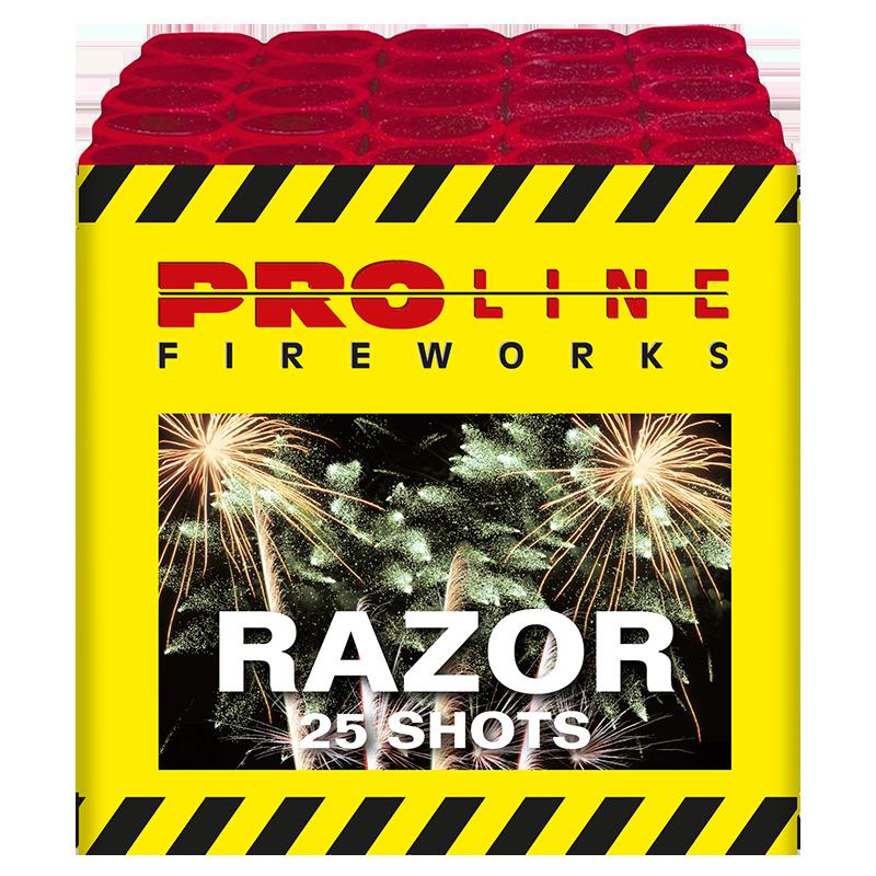 Razor - 25 shots cake