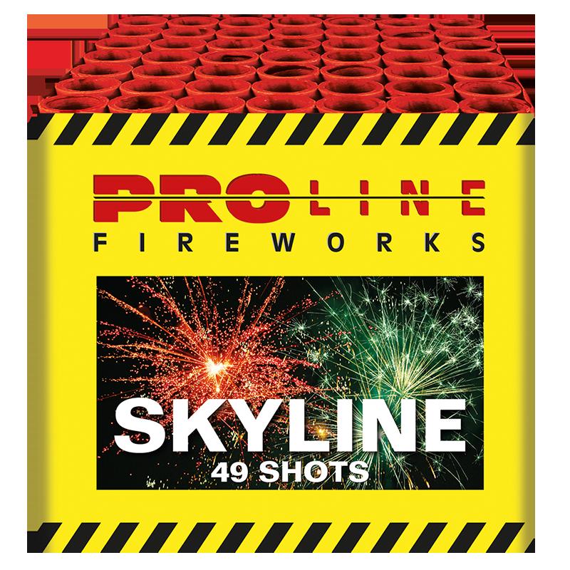 Skyline - 49 shots cake