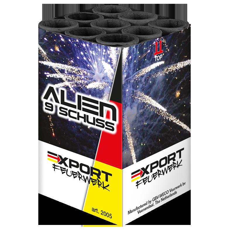 Alien 9 schuss - Duits vuurwerk