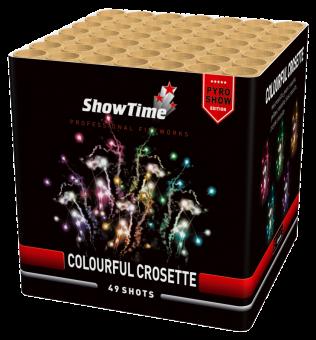 Colourful crosette