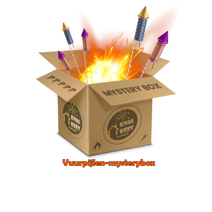 Mysterybox vuurpijlen €100,-