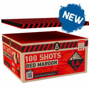 Neon Maroon 100 shots compound