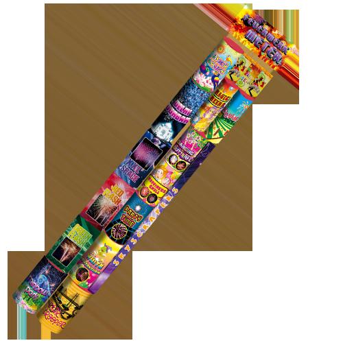 FEUERWERK METER 1 METER bomvol vuurwerk! 365 dagen per jaar te koop