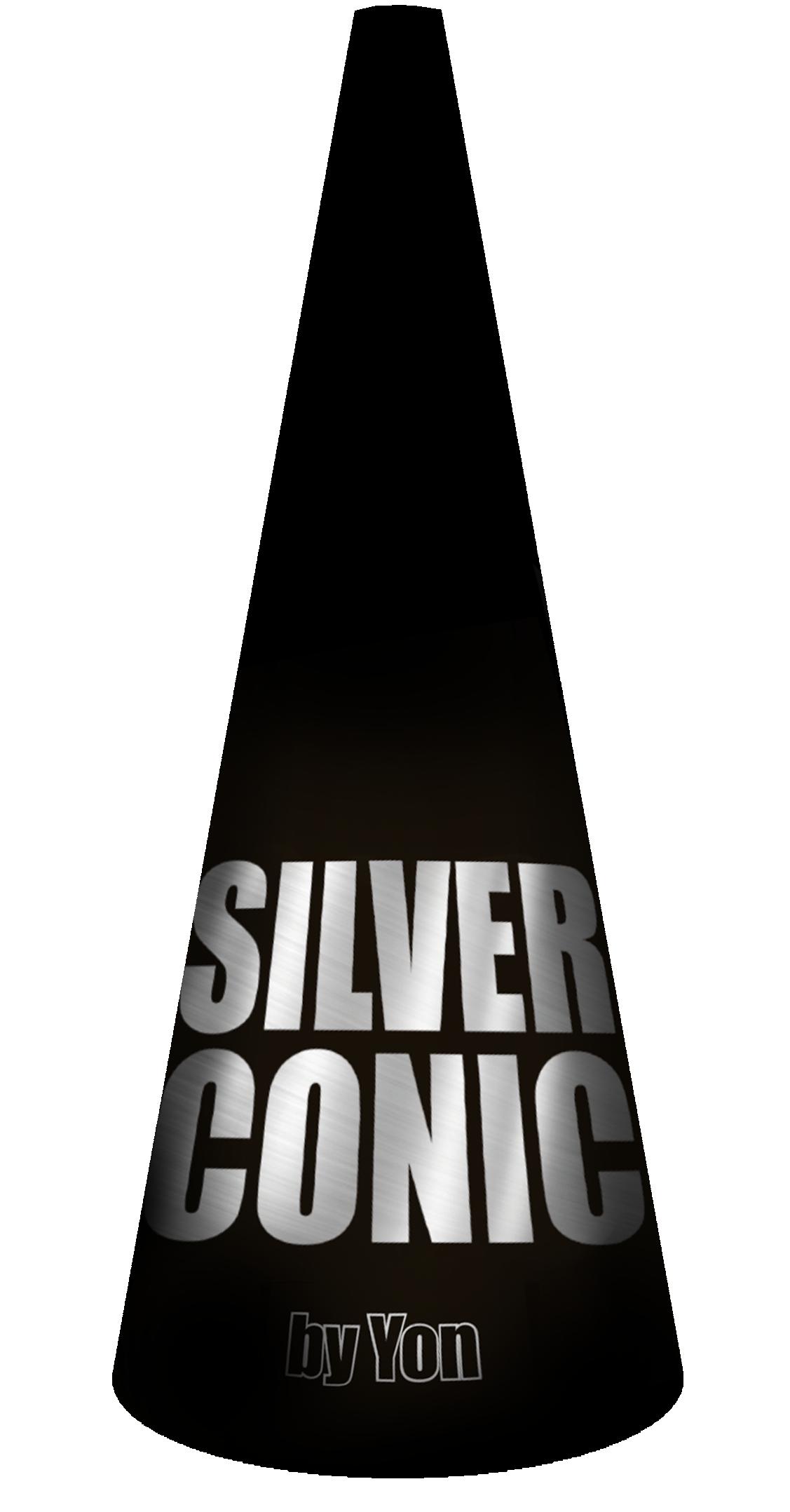Silver conic *NIEUW*